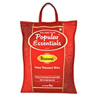 Popular Essentials Rozana Sona Masouri Raw Rice, 5kg