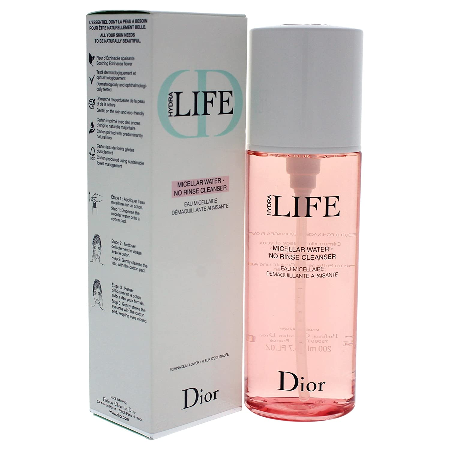 d6a0a7823c3e1 Amazon.com  Christian Dior Hydra Life Micellar Water No Rinse Cleanser for  Women