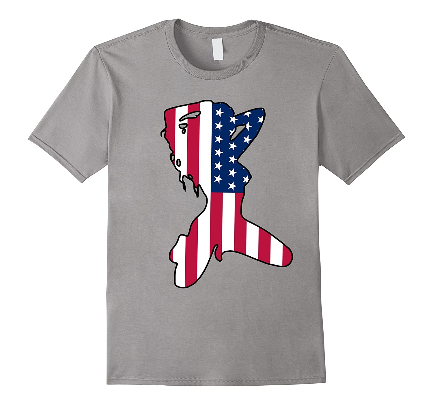 Women Body American Flag T-Shirt - Stripper Flag T Shirt-TD