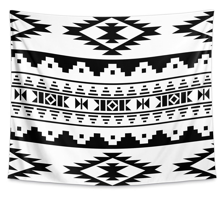 Size: 104x88 - KAVKA Designs Cherokee Tapestry, MGTAVC2002WT84 Black - TAP-WT84-104X88-MGT2002