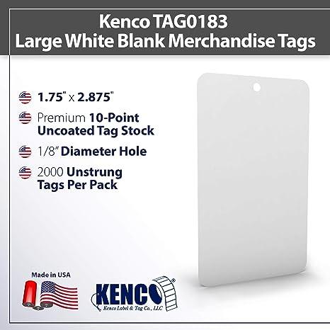 Set of 10 Large Prim Blank Tags