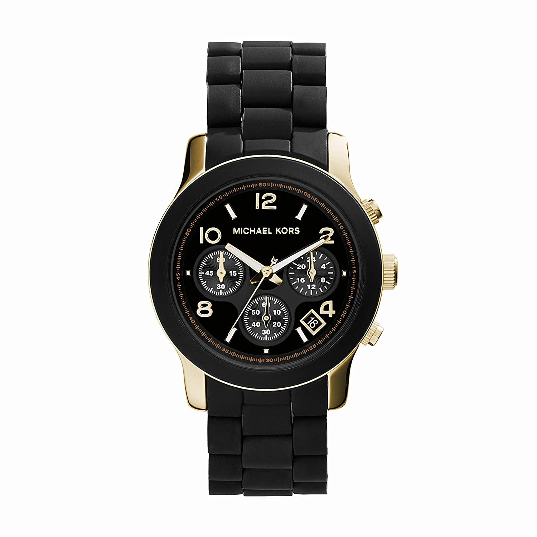 Michael Kors Chronograph Dial Watch – Black Gold