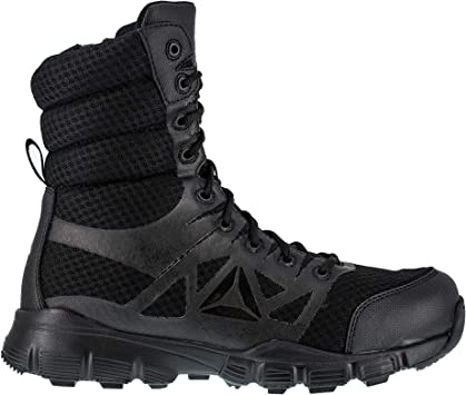 TALLA 10.5-M US unisex-adult. Reebok Dauntless Daunless-Botas con Cremallera Lateral sin Costuras, 20,32 cm, Color Negro, Hombre