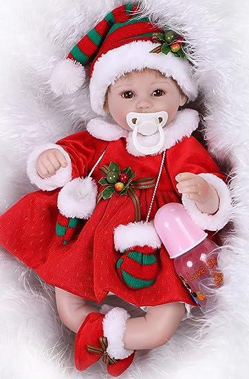 Amazon.com: Muñecas de bebé renacido realista con ojos ...