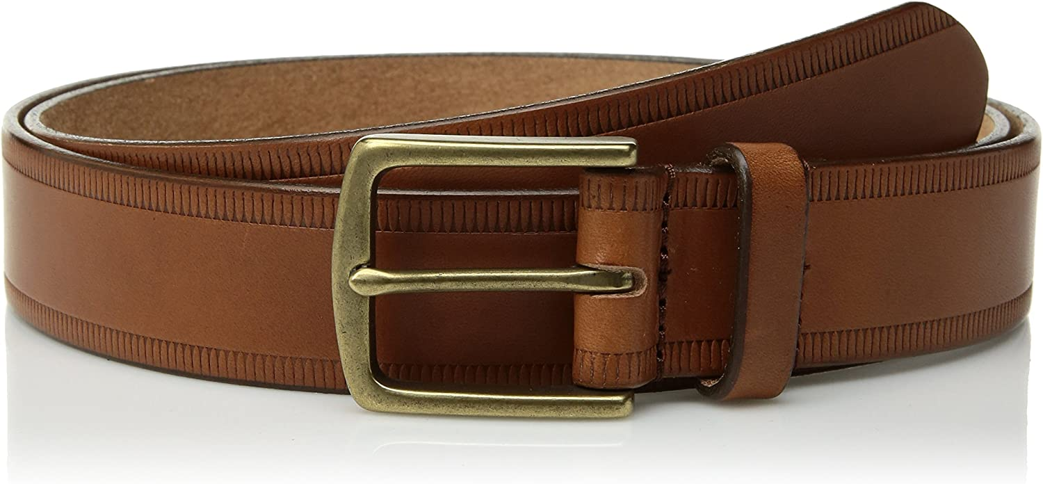 Circa Leathergoods Mens Casual Embossed Leather Belt