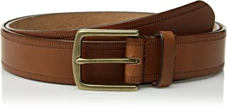 product image for Circa Leathergoods Men's Casual Embossed Leather Belt
