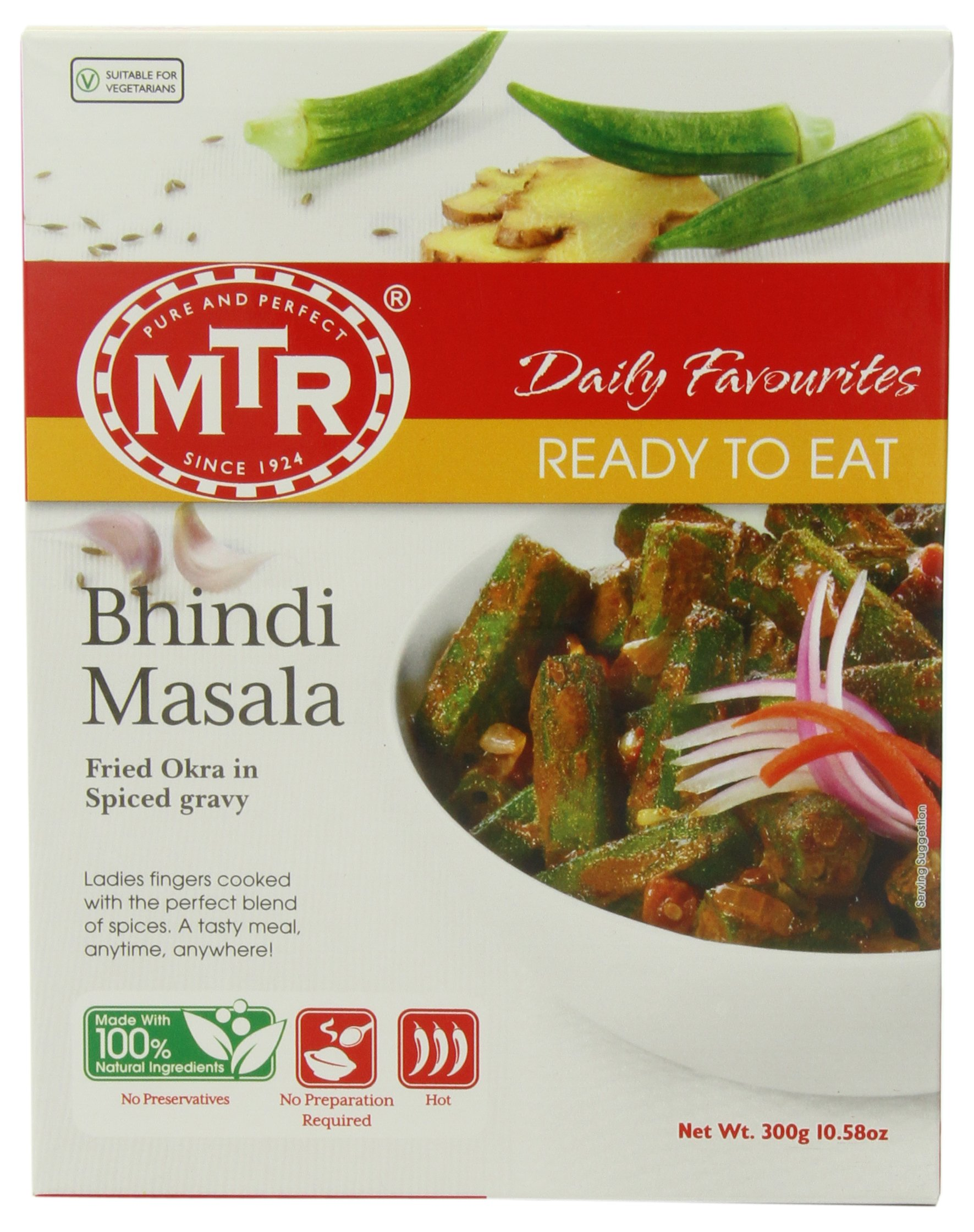 MTR Bhindi Masala, 10.58-Ounce Boxes (Pack of 10) by MTR