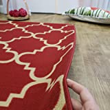 Doormat 18x30 Red Trellis Kitchen Rugs and mats