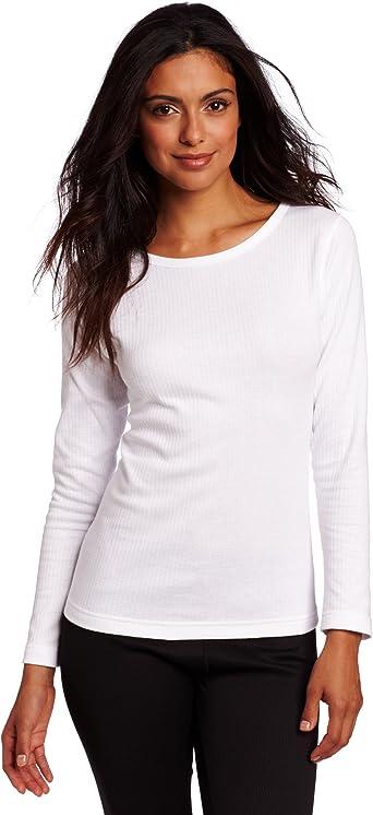 Duofold Women/'s Mid Weight Wicking Thermal Shirt Medium White