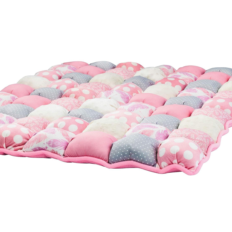 Play Mat Puff Blanket Cream Orange Bubble Blanket Biscuit Quilt