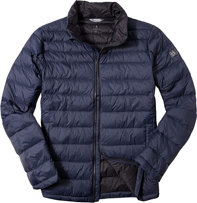 Calvin Klein CAOD3 Opack 1 Packable Down Jacket, Abrigo para Hombre, Azul (Night Sky), Large: Amazon.es: Ropa y accesorios