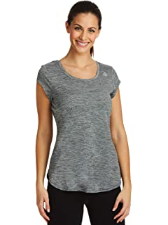 fac3025a8c8a Reebok Women's Dynamic Fitted Performance Short Sleeve T-Shirt ...