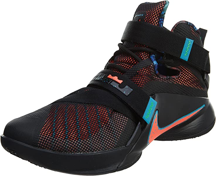 684985b75b55 NIKE Lebron Soldier IX Mens Basketball-Shoes 749417-084 11.5 - Black ...