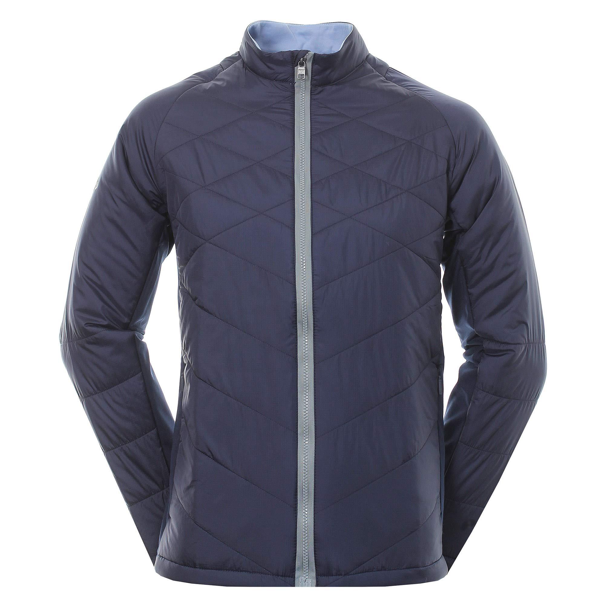 Callaway Golf 2018 Mens Full Zip Chev Thermal Puffer Jacket Peacoat Small by Callaway