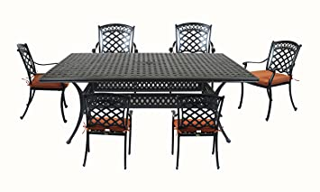 Summerset Casual St. Tropez Aluminum 7 Piece Rectangular Patio Dining Set