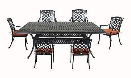 Genial Summerset Casual St. Tropez Aluminum 7 Piece Rectangular Patio Dining Set