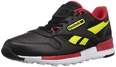 Reebok Men s Classic Leather 2.0 Fashion Sneaker Black Hypergreen Scarlet White  9.5 M d0398ce78