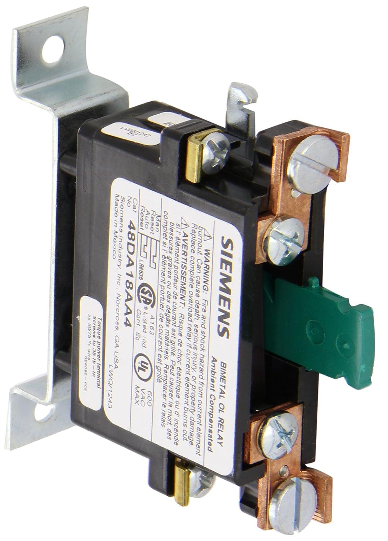 Siemens 48DA18AA4 Ambient Compensated Bimetal Overload Relay Open