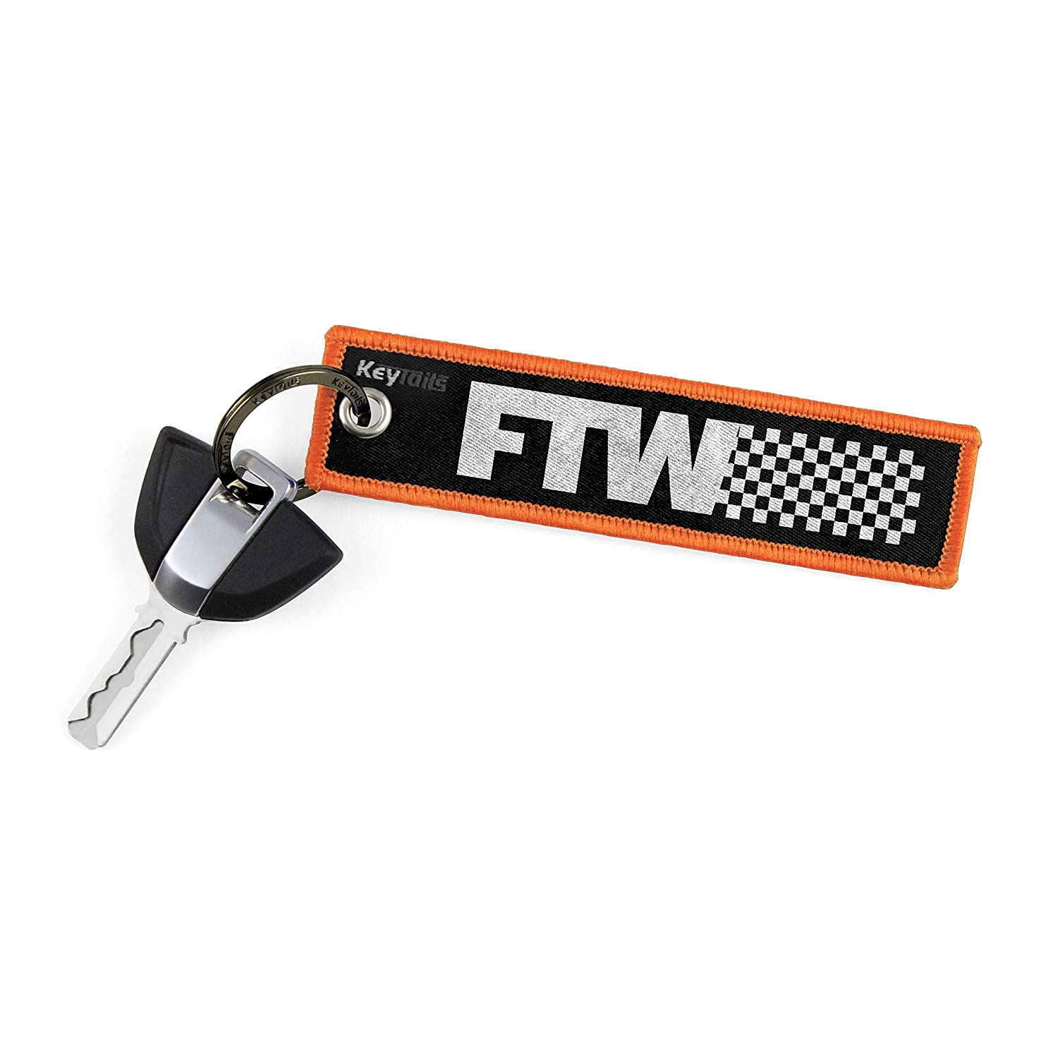 FTW - For The Win, Forever Two Wheels KEYTAILS Keychains Premium Quality Key Tag for Motorcycle UTV Scooter ATV Car Key Tails