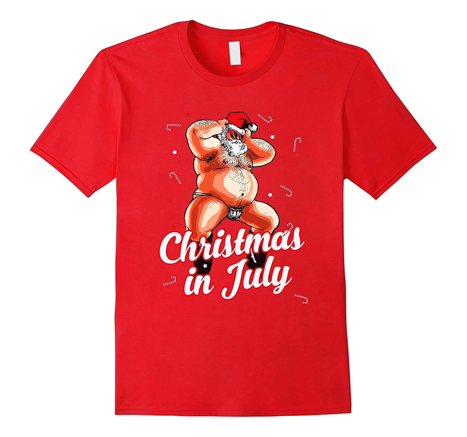 Christmas In July - Funny Dancing Santa Shirt-TH