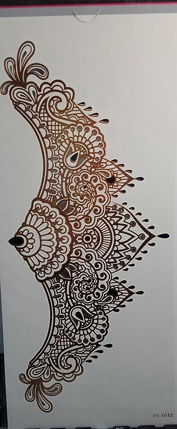 Hierba (Sunshine Tatuajes temporales para mujeres pecho joyas ...