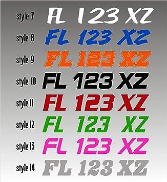 "PAIR // Set of Two Vinyl Decals 3/"" X 20/"" Custom Boat Registration Numbers"