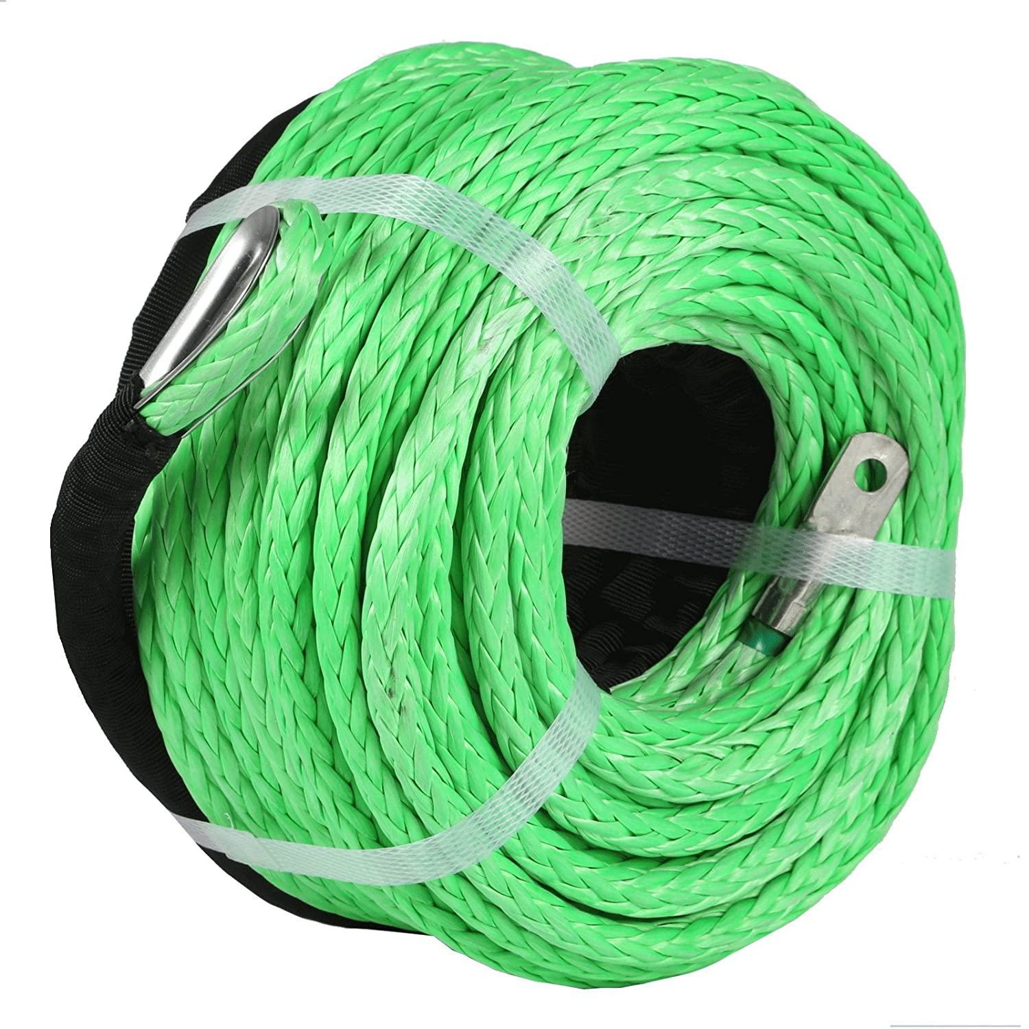 "5//16/""*100FT SYNTHETIC WINCH ROPE,CABLE WINCH,TOW ROPE FOR CAR WITH SHEATH PRO"
