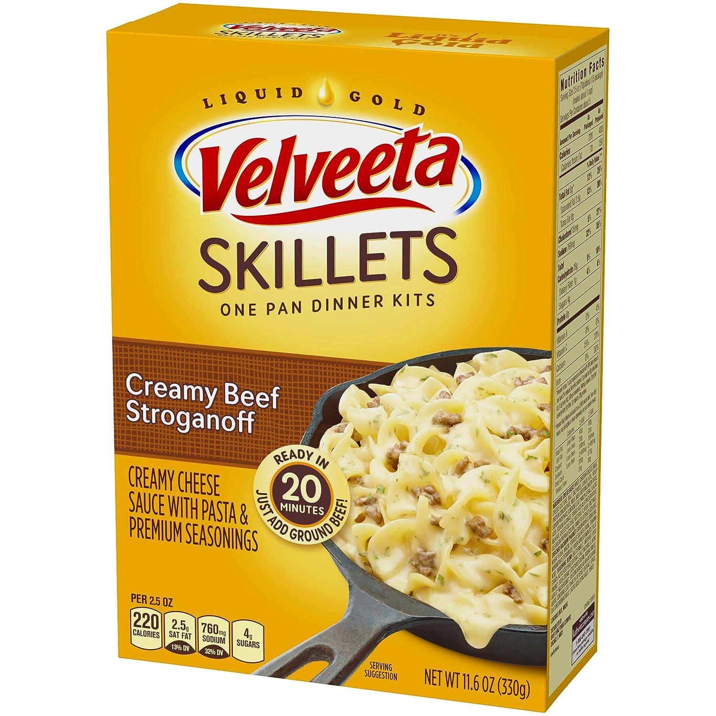 Velveeta Kraft Cheesy Skillets Dinner Kit Box Creamy Beef Stroganoff 11 6 Ounce