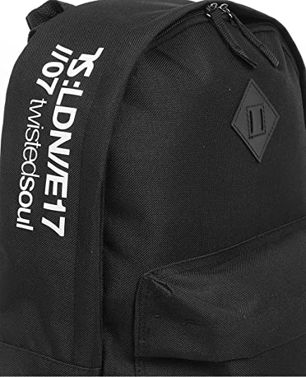 97d626d49f Twisted Soul Mens Black Coded Logo Rucksack Backpack Carrier Sports Casual  Bag  Amazon.co.uk  Shoes   Bags