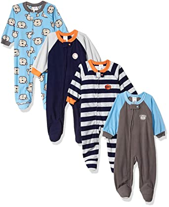 2b1c0dea63 Image Unavailable. Image not available for. Color  Gerber Baby Boys  4-Pack Blanket  Sleeper