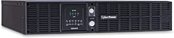 CyberPower CPS1500AVR Smart App LCD UPS System, 1500VA/900W, 8 Outlets, AVR, 2U Rack/Tower,Black