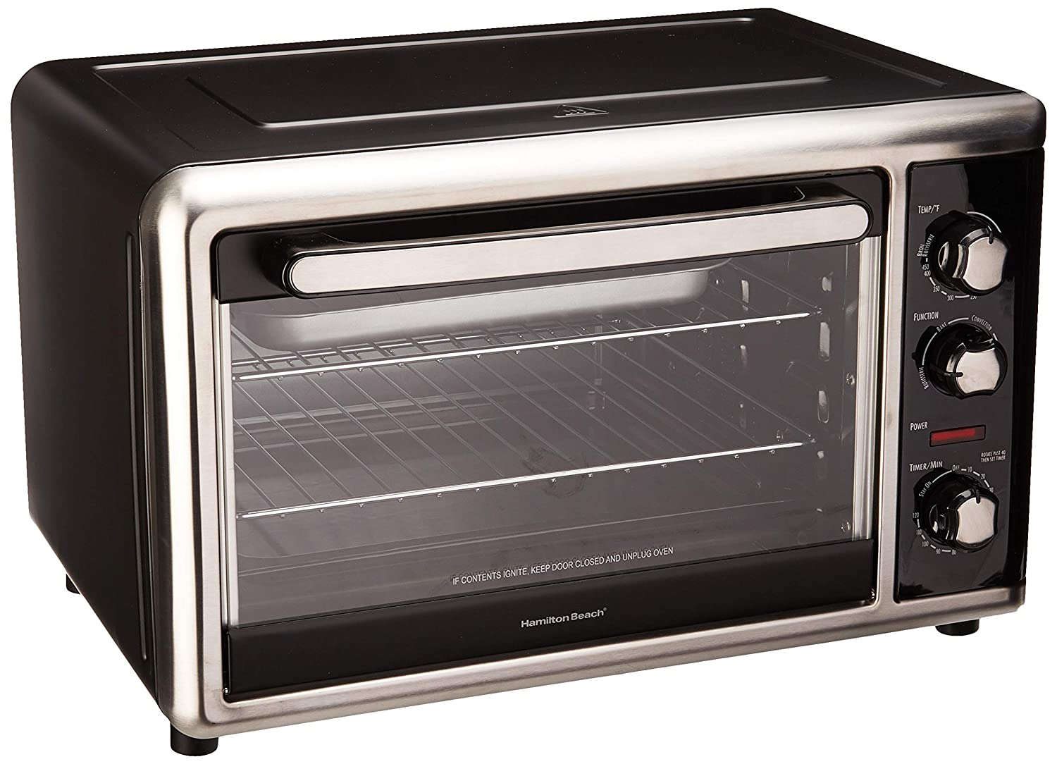 Hamilton Beach 31105D Countertop Oven with Silver, Black, Large