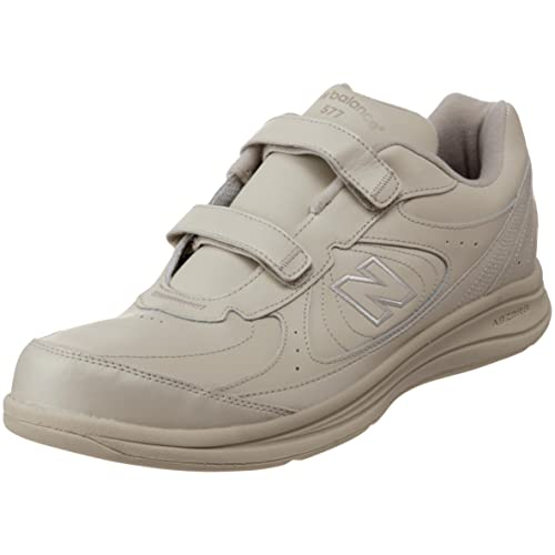 New Balance Men's MW577 Hook and Loop Walking Shoe, Bone, 15 D US