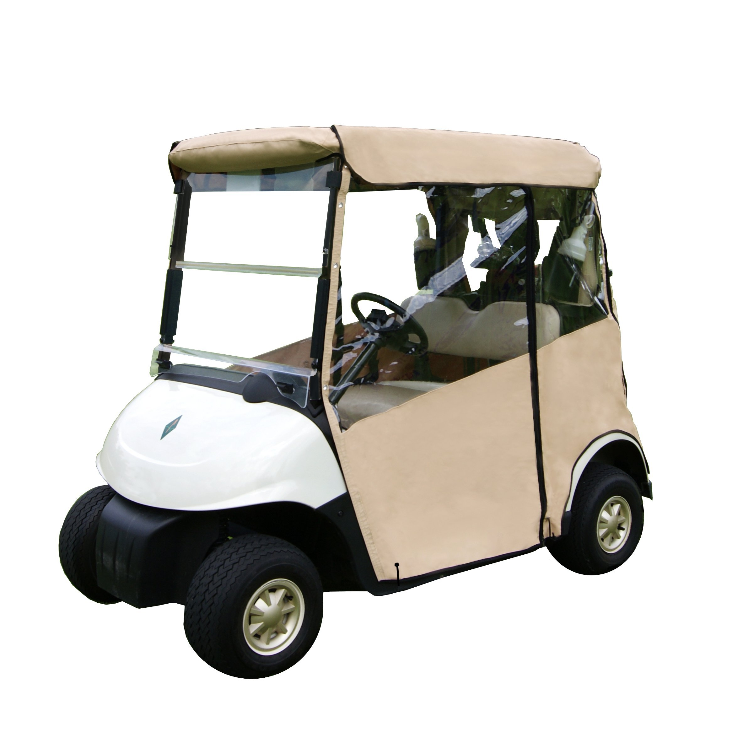 3 Sided Fitted Golf Cart Cover (TAN, YAMAHA G14-G19)