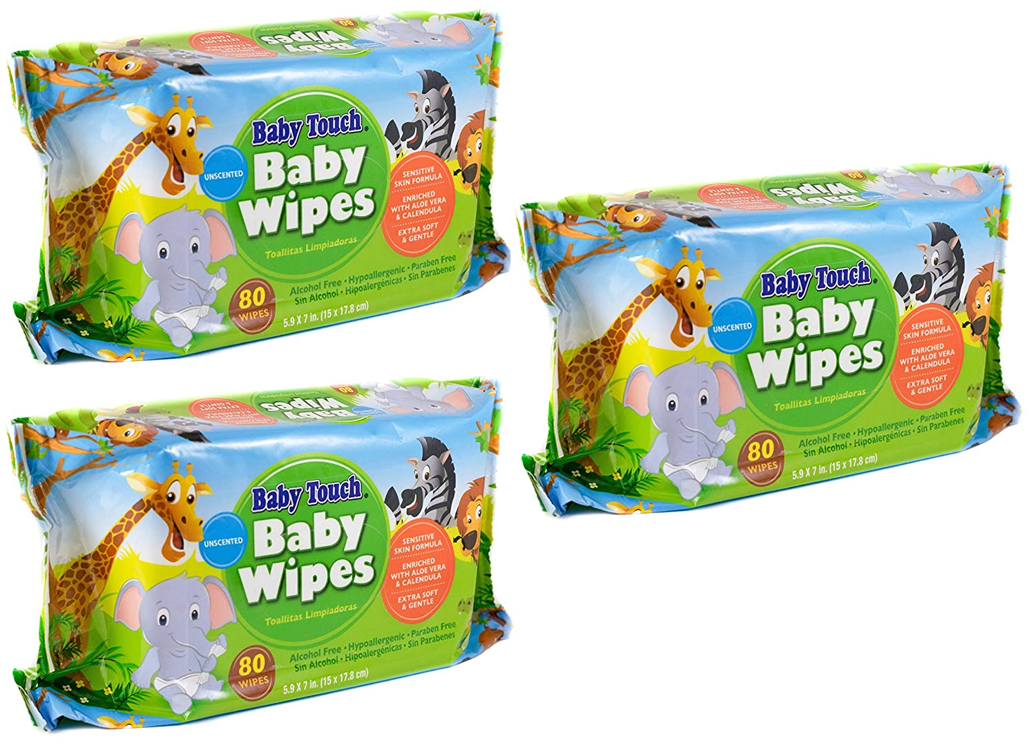 Amazon.com : Baby Touch Wipes. 240 Unscented Baby Wipes. Cleansing Water Wipes for Sensitive Skin. Disposable Moist Wipes for Cleaning, Refreshing.