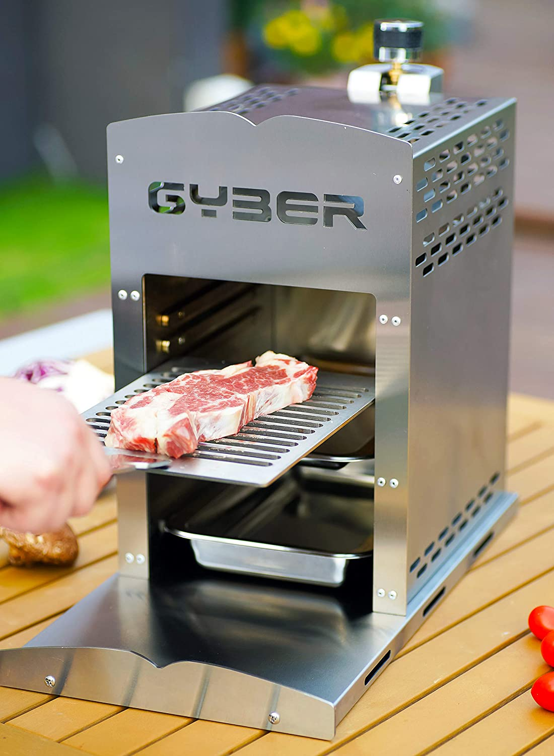 100+ GYBER Anvil Pro Solid 12 Stainless Steel Propane Grill, Portable Outdoor  Steak Grill for Multiple Foods