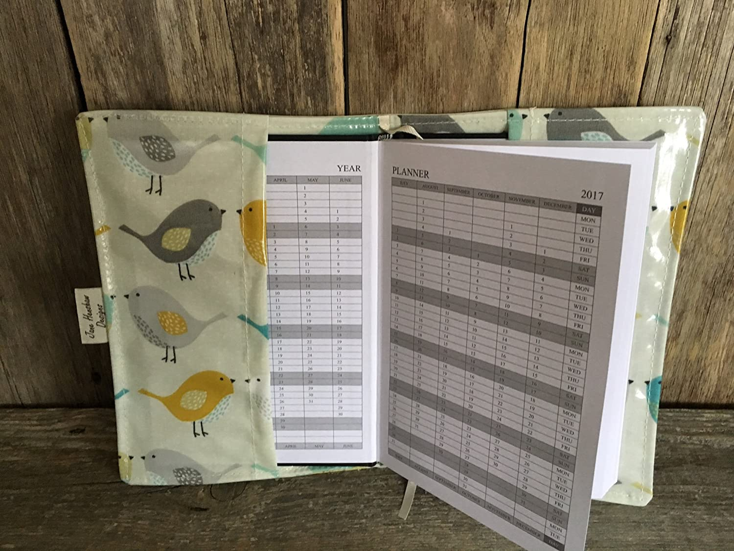 Journal Cover A5 Diary Cover Page To View,birds oilcloth Nurses Diary Cover