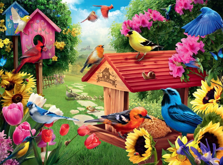 Buffalo Games - Hautman Brothers - Garden Birdhouse - 1000 Piece Jigsaw Puzzle