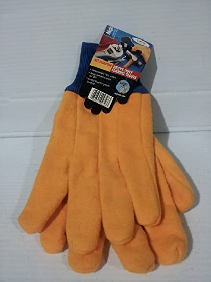 f4caefb23567 Magla Large All Purpose Heavy-duty Flannel Gloves #4723 - - Amazon.com