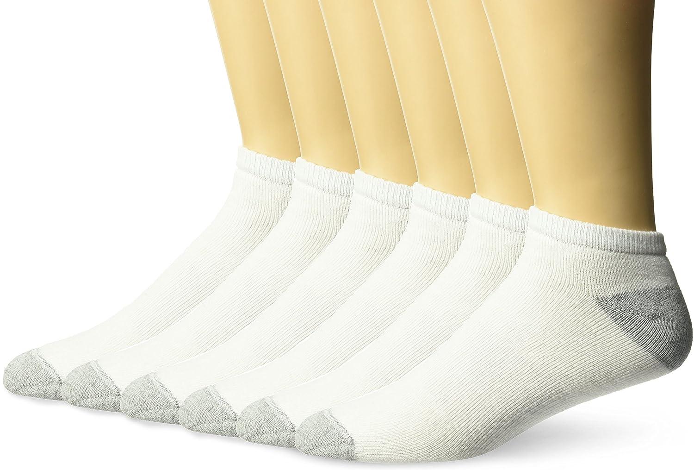 Champion Men's 6 Pack Low Cut Socks, Black, 10-13 (Shoe Size 6-12) CH603