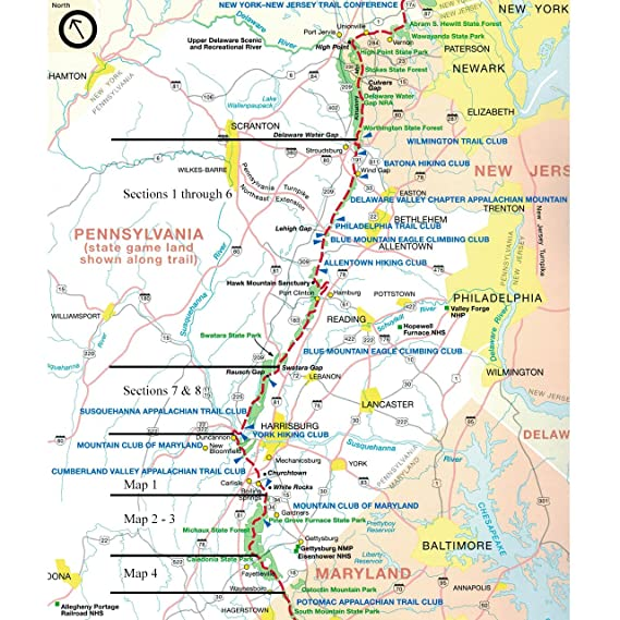 Amazon.com : Official Pennsylvania Appalachian Trail Map Set ...