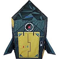 NARMAY Play Tent Rocket Ship Playhouse for Kids Indoor/Outdoor Fun-112 x 107 x 152 cm