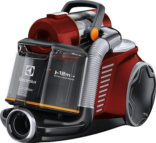 Electrolux - Aspirador sin Bolsa Ultraflex, Sistema Motion Control, Hygiene Filter 12, 1.6 L con Cepillo Mini Turbo Rojo: Amazon.es: Hogar
