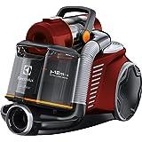 Electrolux EUF8ANIMAL Aspirapolvere Senza Sacco UltraFlex, Sistema Motion Control, Hygiene Filter 12, con Mini Turbo Spazzola, 600 W, 1.6 Litri, Rosso