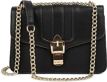 8c6b6ea625d12 styleBREAKER Box Bag Umhängetasche im Messenger Design mit Magnetverschluss  und Kette