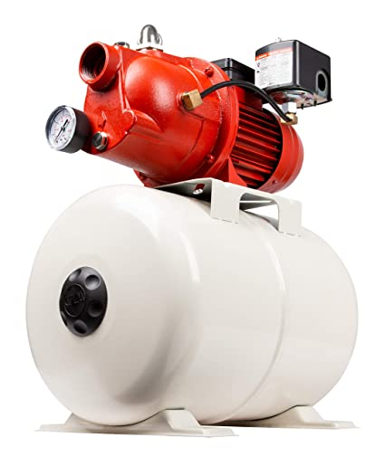 Red Lion 97080503 Shallow Well Jet Pump and Tank Package, Cast Iron Pump  with Pressure Tank, 5 8 Gallon