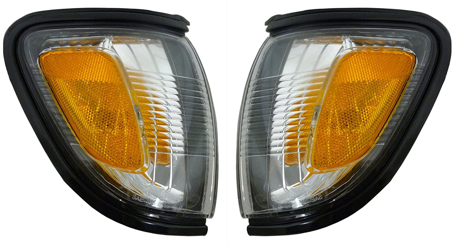 Toyota Tacoma Replacement Corner Light Assembly (Black(209)) - 1-Pair AutoLightsBulbs
