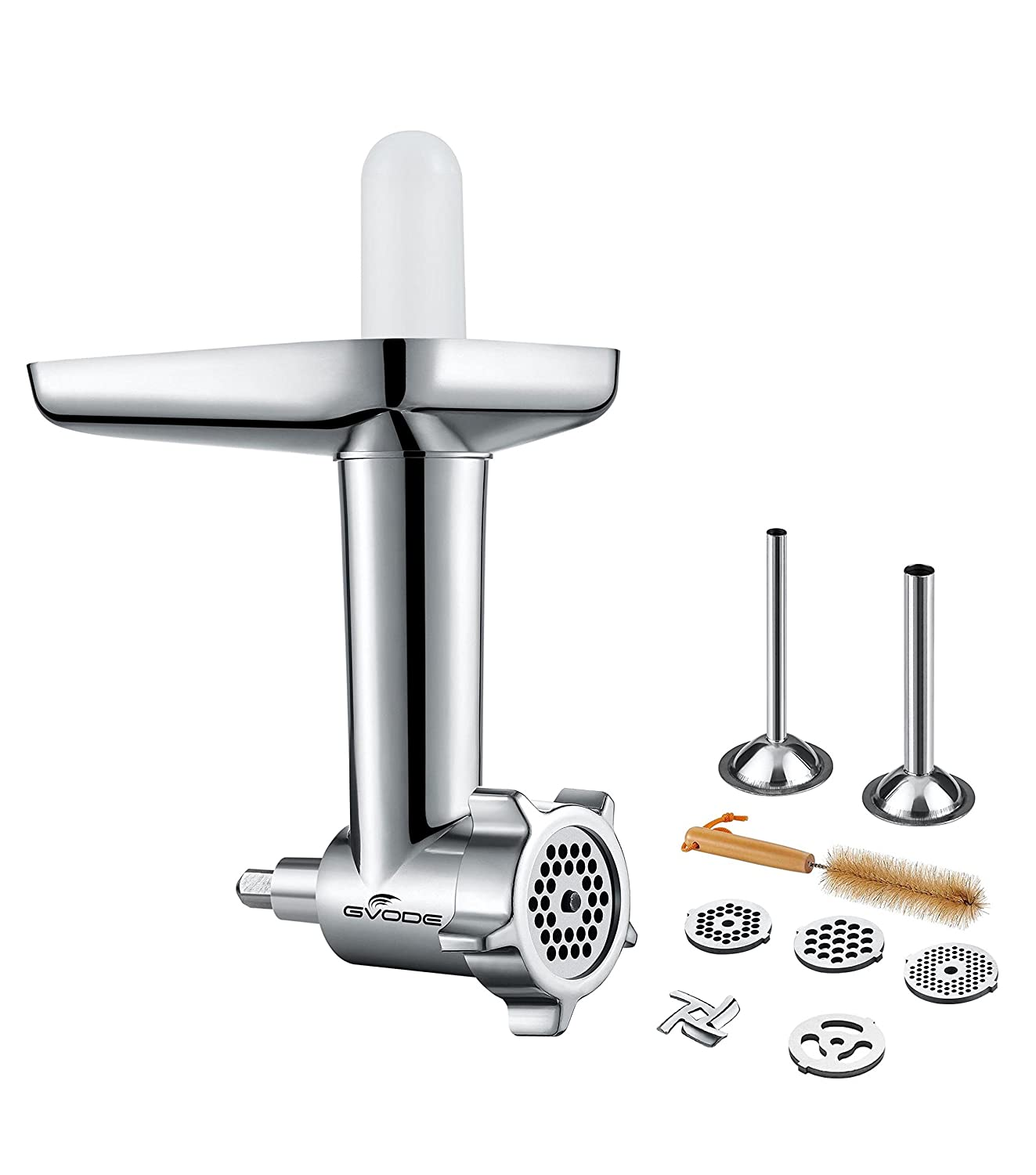Gvode Kitchen Food Grinder Attachment for KitchenAid Stand Mixers Including Sausage Stuffer and 4 Grinding Plates-Kitchenaid Mixer Accessories Gvode Inc G1705