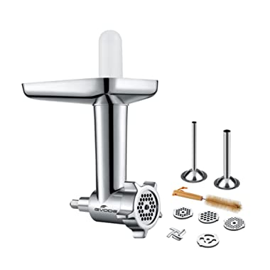 Gvode Food Grinder Attachment Work with KitchenAid Stand Mixers Including Sausage Stuffer Accessory