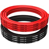 TUOFENG 10 AWG Silicone Wire 10 Feet red black wire - 10 Gauge Silicone Wire - Flexible Silicone Wire Works Well for RC car, drone, helicopter and airplane battery and engine wire